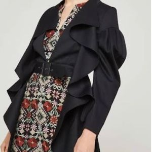 BCBG MaxAzria Ruffles Dress Trench Jacket NWOT XS